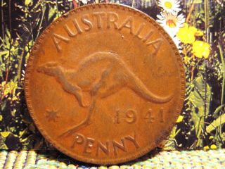 Australia 1941 One Penny Copper Coin