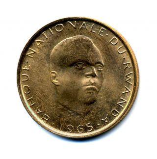 Rwanda 5 Francs 1965 Km 6 Au photo