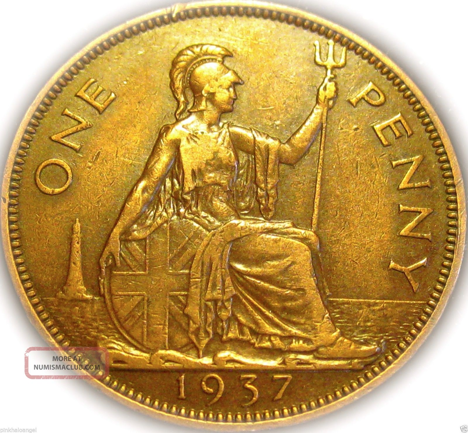 ♡ United Kingdom - 1937 Penny Coin - Large Coin King George Vi - S&h Discounts UK (Great Britain) photo