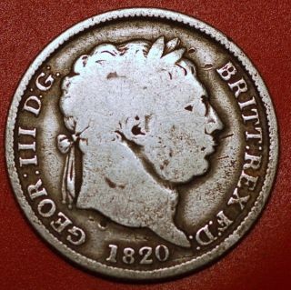 Great Britain.  1 Shilling 1820 - George Iii Km 666 photo