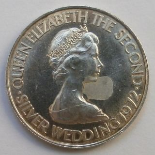 Jersey 50 Pence 1972 Silver Coin Xf - Au photo