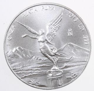 2013 Mexico Libertad 1 Onza 1 Oz.  Silver Coin - photo