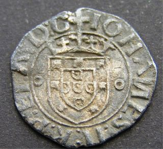 Rare Grade - Vintem - 20 Reis - D Joao - Ii,  Billon - Portugal1481 - 1495 - Lisbon photo