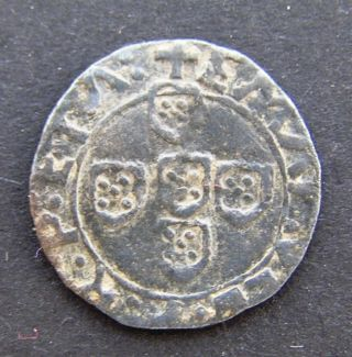 Half Vintem 10 Reis - Emmanuel I - 1495 - 1521 - Silver - Rare Coin Rare Type photo
