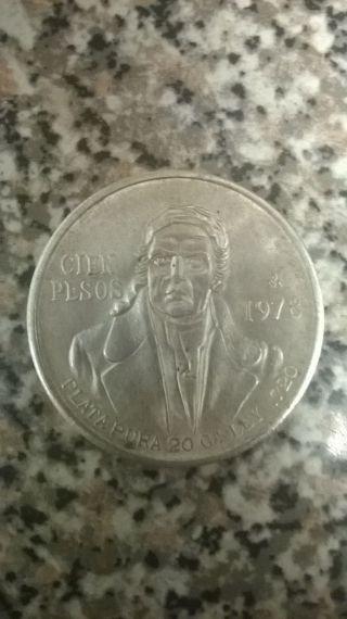 Mexico 100 Pesos,  1978 photo