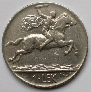 Albania 1 Lek 1931l - Nickel Coin,  Vf photo