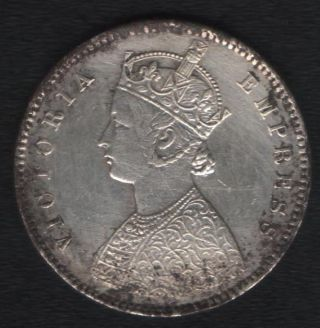 British India 1/2 Rupee Victoria Empress 1897 ' B ' Look photo