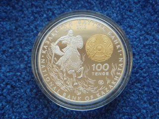 Kazakhstan / Kasachstan,  100 Tenge,  2012,  Sultan Baybars,  Silver,  Proof photo
