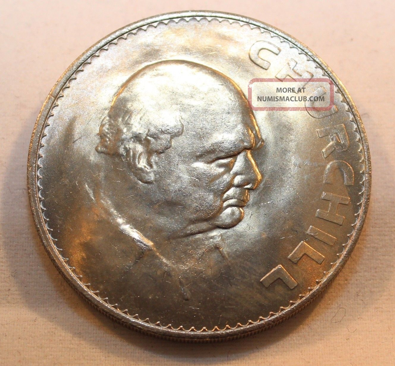 1965 Great Britain Crown Coin - Winston Churchill Great Luster UK (Great Britain) photo
