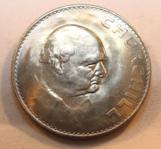 1965 Great Britain Crown Coin - Winston Churchill Great Luster photo