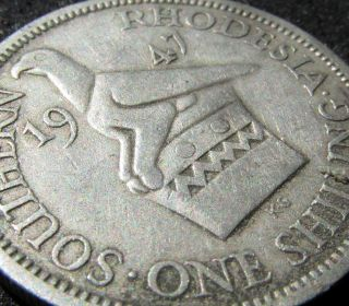 Solid 1947 Southern Rhodesia (zimbabwe) Shilling,  British Colonial Colony photo