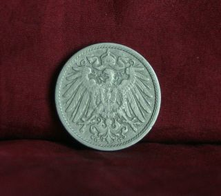Germany Empire 10 Pfennig 1906 G World Coin Km12 German Reich Crown Eagle Shield photo