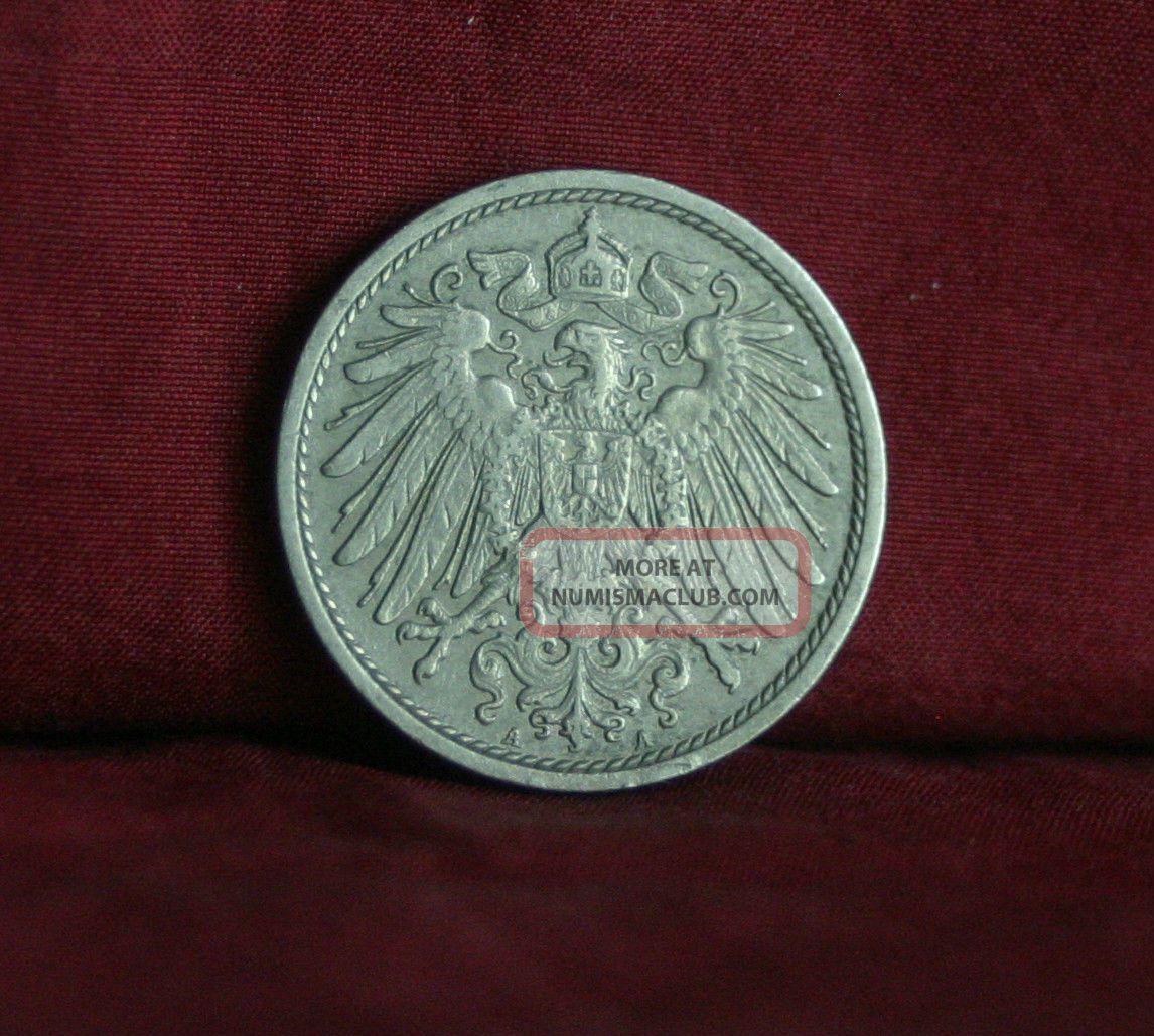 Germany Empire 10 Pfennig 1912 A World Coin Km12 German Reich Crown Eagle Shield Germany photo