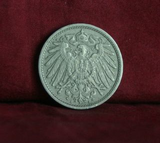 Germany Empire 10 Pfennig 1912 A World Coin Km12 German Reich Crown Eagle Shield photo