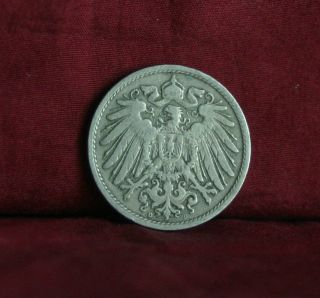 Germany Empire 10 Pfennig 1902 D World Coin Km12 German Reich Crown Eagle Shield photo