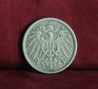 Germany Empire 10 Pfennig 1911 E World Coin Km12 German Reich Crown Eagle Shield photo