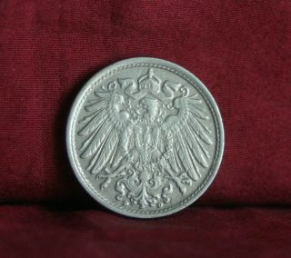 Germany Empire 10 Pfennig 1915 D World Coin Km12 German Reich Crown Eagle Shield photo