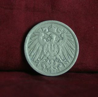 Germany Empire 10 Pfennig 1905 J World Coin Km12 German Reich Crown Eagle Shield photo