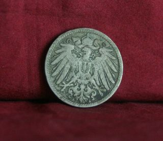 Germany Empire 10 Pfennig 1896 A World Coin Km12 German Reich Crown Eagle Shield photo