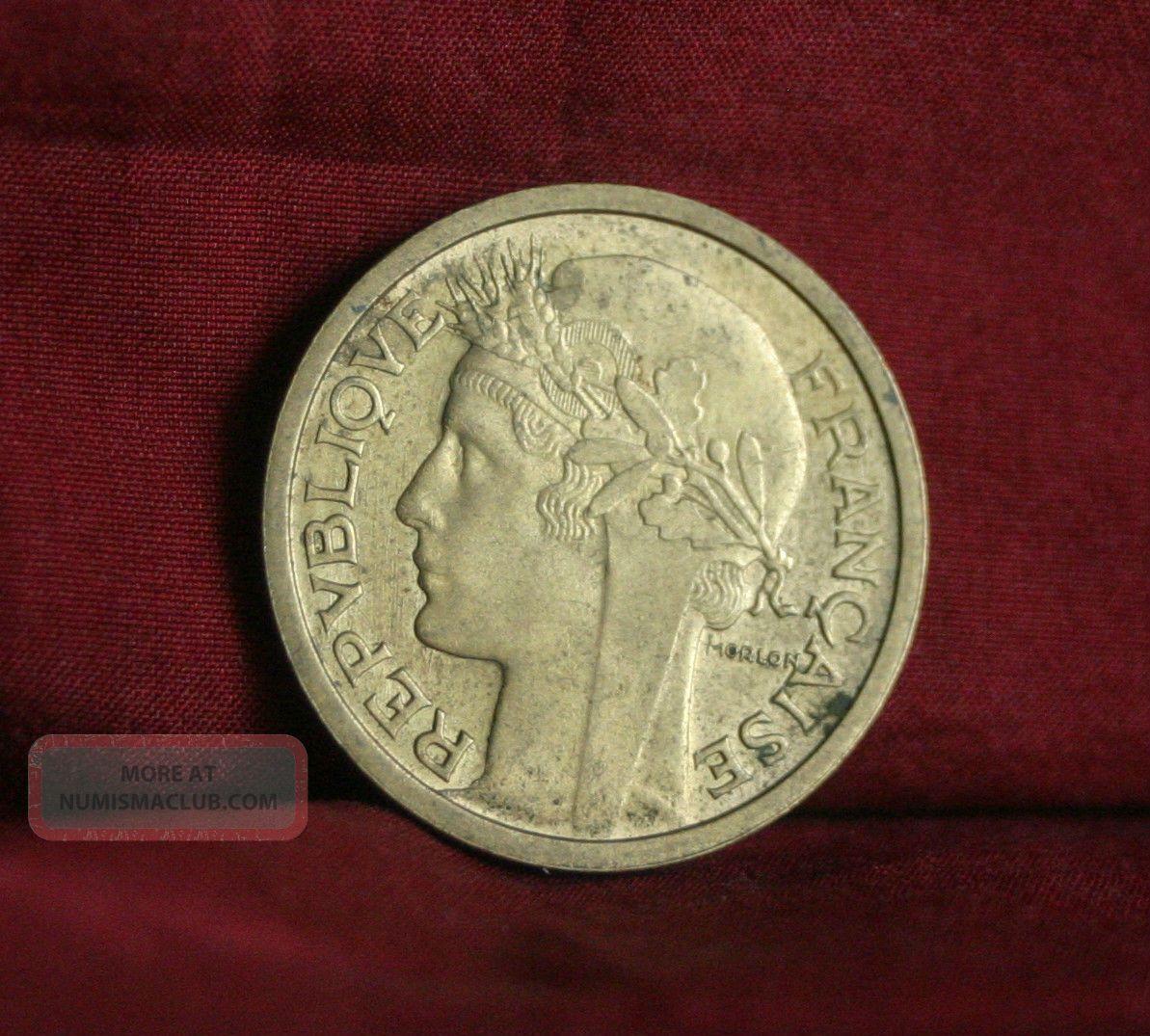 1941 France 1 Franc World Coin Km885 Wwii Liberty Head Cornucopia French Europe photo