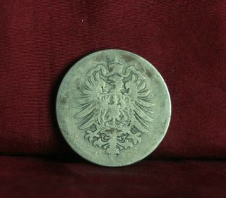 Germany Empire 10 Pfennig 1875 A World Coin Km4 German Reich Crown Eagle Shield photo