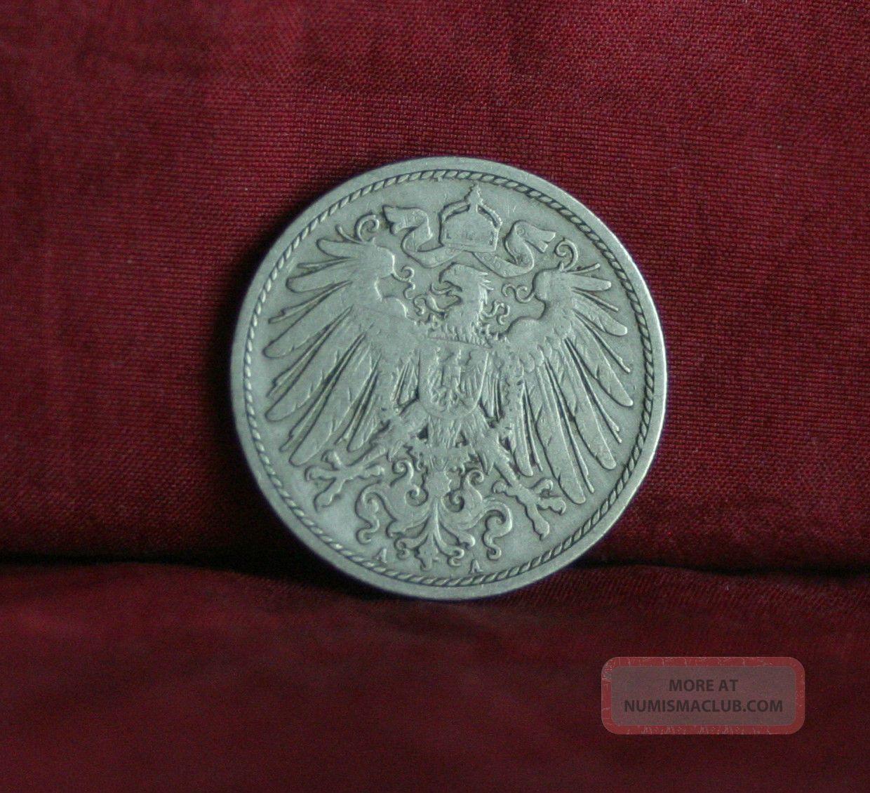 Germany Empire 10 Pfennig 1901 A World Coin Km12 German Reich Crown Eagle Shield Germany photo