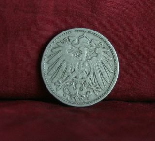 Germany Empire 10 Pfennig 1901 A World Coin Km12 German Reich Crown Eagle Shield photo