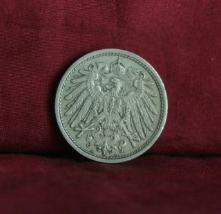 Germany Empire 10 Pfennig 1913 A World Coin Km12 German Reich Crown Eagle Shield photo
