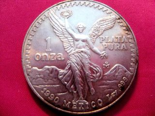 1990 - Pr00f - 1oz.  9990 Pure Silver - Liberty Wings =3655 photo