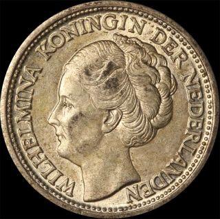 1944 - D Silver 1/4 Gulden Wilhelmina Koningin Der Nederlanden Munt Van Curacao photo
