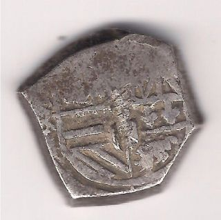 Mexico 4 Reales Cob About 1700 Silver photo