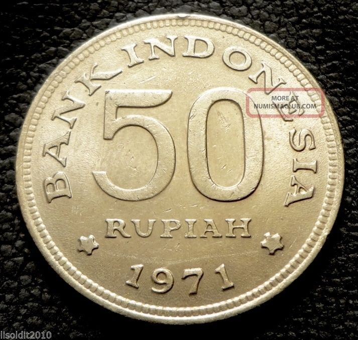 Indonesia 1971 50 Rupiah Greater Bird Of Paradise Coin