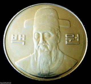 South Korea,  2005 100 Won Admiral Yi Sun - Sin Korea National Hero Coin photo