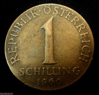 Austria 1960 1 Schilling Three Edelweiss Flowers Coin photo