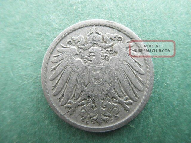 Germany - German Empire 1900g 5 Pfennig Coin - Real Coin - Real Km 11 Germany photo