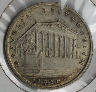 Austria Ein Shillings 1926 - Almost Uncirculated photo