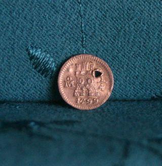 1799 Mexico 1/4 Real Silver World Coin Rampant Lion Castle Mexico City Rare photo