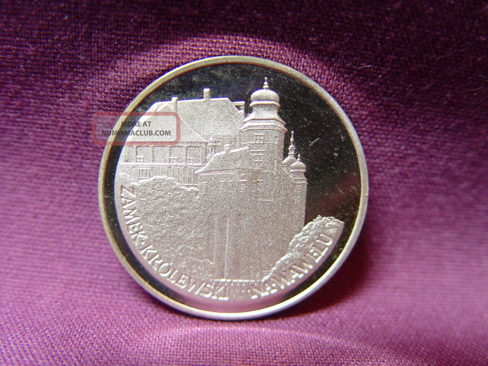 T2: World Coin Poland: Y 1 1977 Silver Proof.  100 Zloty Krakow Castle Europe photo