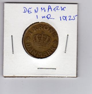 Denmark 1 Krone 1925 photo