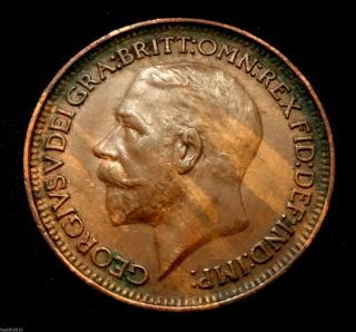 Uk (great Britain) 1927 Farthing,  George V,