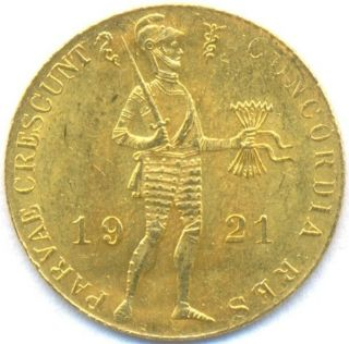 1921 Gold Ducat Netherlands,  Fine Gold,  3.  5 Grams,  Uncirculated photo