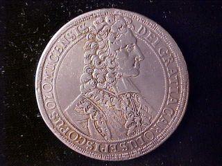 Olmutz Dav - 1211 Thaler 1707 Ex - Mount - ?? Very Fine photo