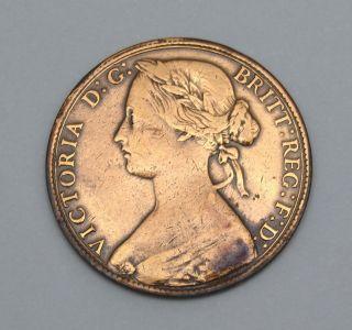 Uk - Victoria - One Penny - 1861 photo