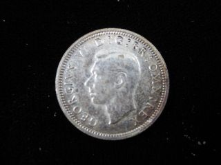 1943 Britian Silver 6 Pence - Uncirculated photo