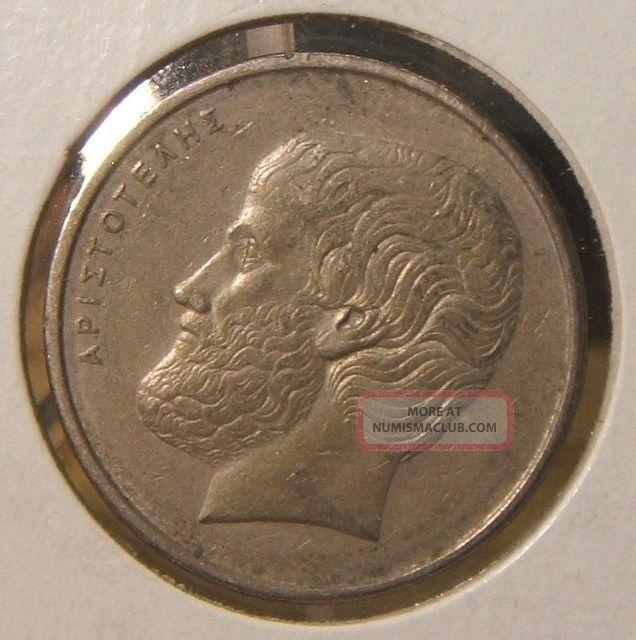 1978 Greece 5 Drachmai Coin Europe photo