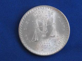 1980 Mexico Onza 1 Oz Silver B3328 photo