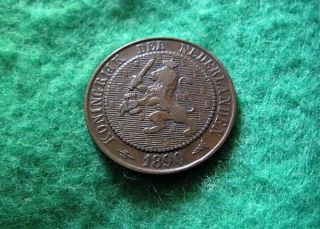 1890 Netherlands 2 1/2 Cents - Circ - photo