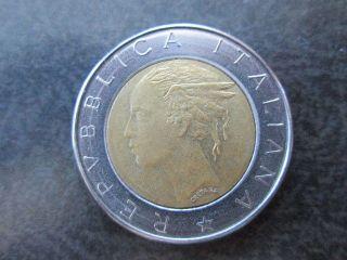500 L Lire Italy Coin 1982 Rebublica Italiana photo