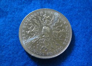 Nd (1980) Great Britain 25 Pence Crown Commem - Bu - photo