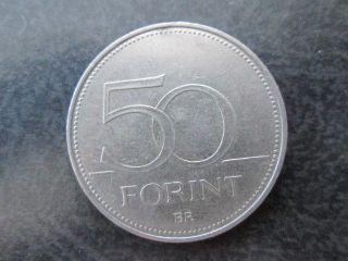 50 Forint Hungary Coin 1995 Magyar photo